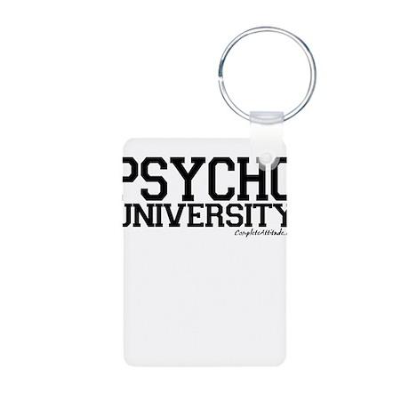 Psycho University Aluminum Photo Keychain
