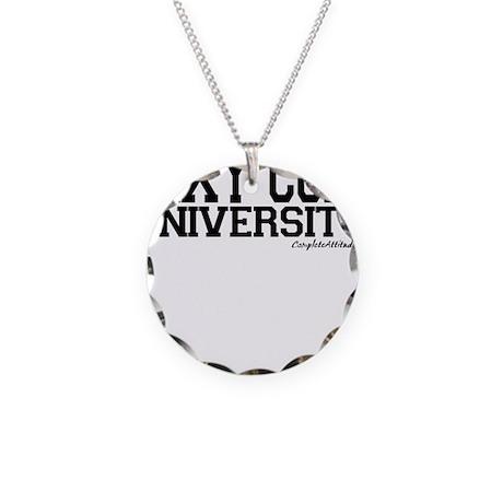 Sexy Coed University Necklace Circle Charm