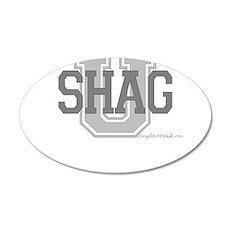 Shag U 38.5 x 24.5 Oval Wall Peel