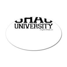 Shag University 22x14 Oval Wall Peel