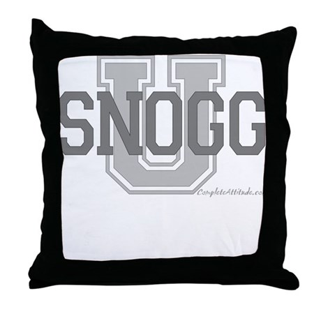 Snogg U Throw Pillow