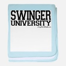 Swinger University baby blanket