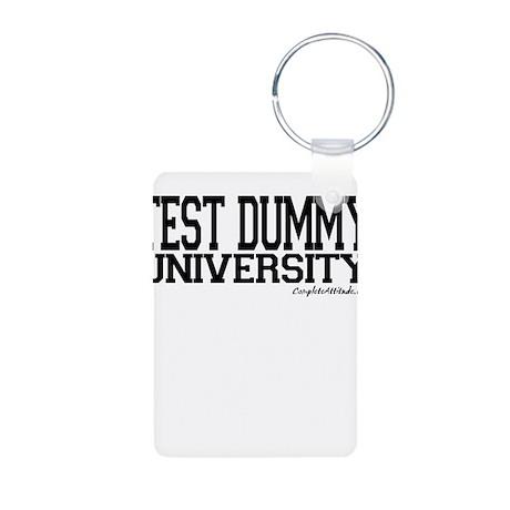 Test Dummy University Aluminum Photo Keychain