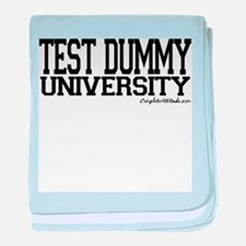 Test Dummy University baby blanket