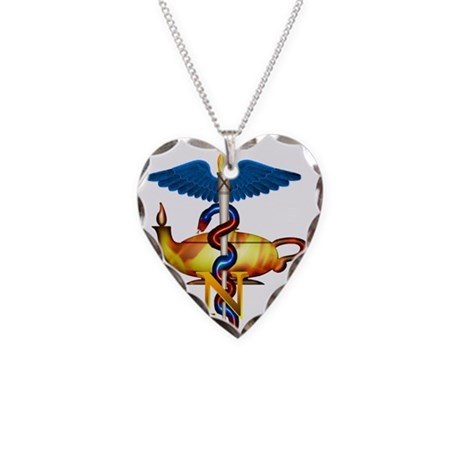 Future Nurse Necklace Heart Charm