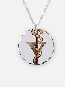 Veterinary Emblem Necklace
