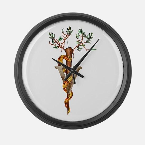 Veterinarian Caduceus Large Wall Clock