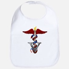 Veterinary Caduceus Bib