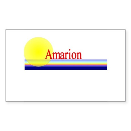 Amarion Rectangle Sticker