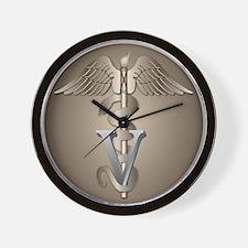 Veterinarian Caduceus Wall Clock