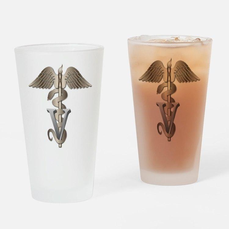 Veterinarian Caduceus Drinking Glass