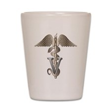 Veterinarian Caduceus Shot Glass