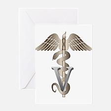 Veterinarian Caduceus Greeting Card