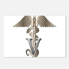 Veterinarian Caduceus Postcards (Package of 8)