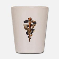 Veterinary Caduceus Shot Glass