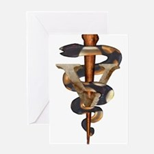 Veterinary Caduceus Greeting Card