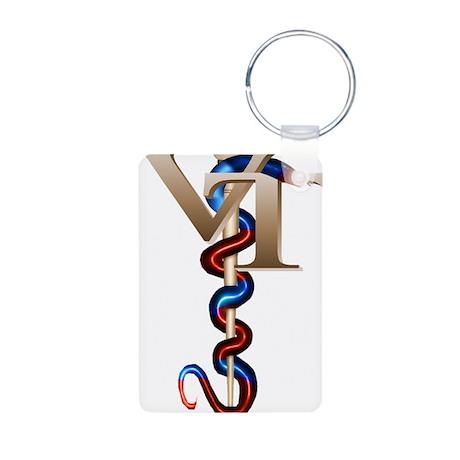 Veterinary Tech Aluminum Photo Keychain