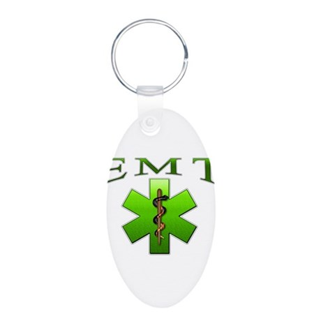 EMT(Green) Aluminum Oval Keychain