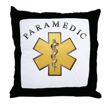 Paramedic(Gold) Throw Pillow