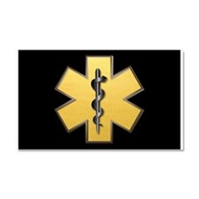 Star of Life(Gold) Car Magnet 20 x 12