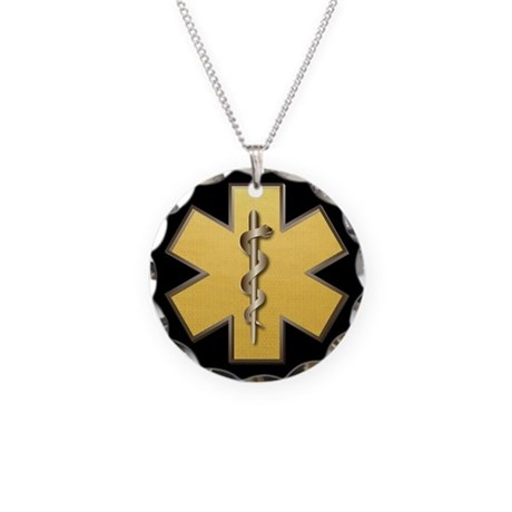 Star of Life(Gold) Necklace Circle Charm