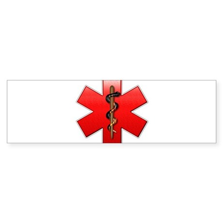 Star of Life(Red) Sticker (Bumper)