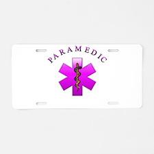 Paramedic(pink) Aluminum License Plate