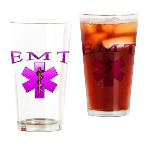 EMT(pink) Drinking Glass