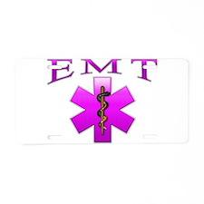 EMT(pink) Aluminum License Plate