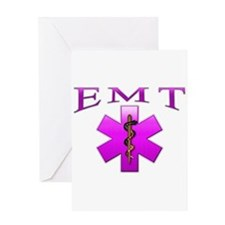 EMT(pink) Greeting Card