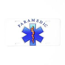 Paramedic Aluminum License Plate
