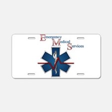 EMS Life Line Aluminum License Plate