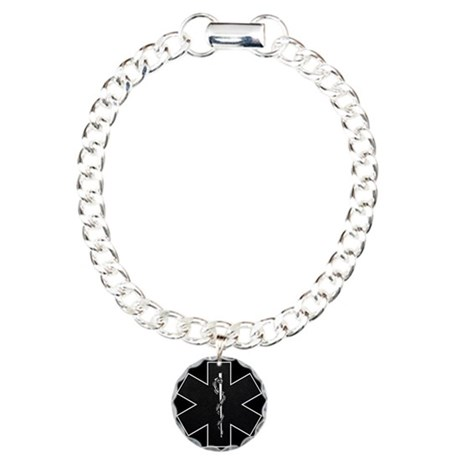 Star of Life(BW) Charm Bracelet, One Charm