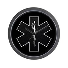 Star of Life(BW) Wall Clock
