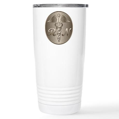RN Caduceus Gold Stainless Steel Travel Mug