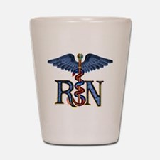 RN Caduceus Shot Glass