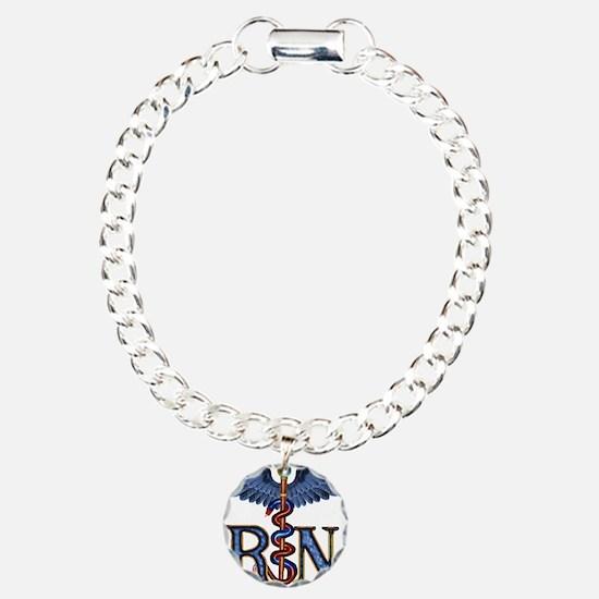 RN Caduceus Charm Bracelet, One Charm