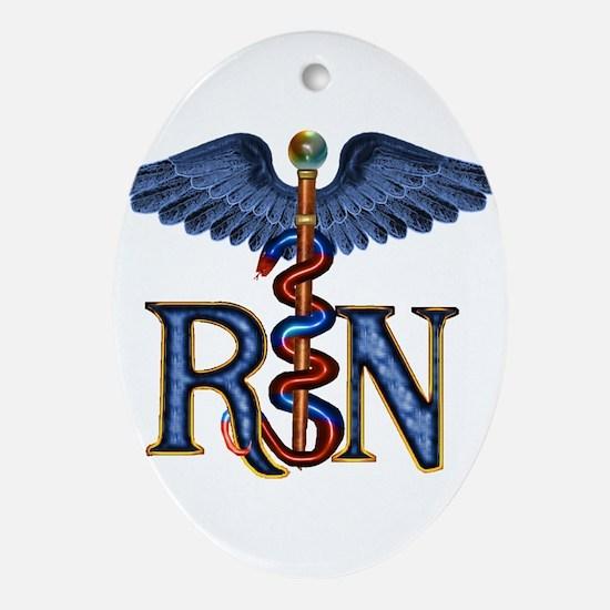 RN Caduceus Ornament (Oval)