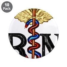 """RN Caduceus 3.5"""" Button (10 pack)"""