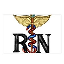 RN Caduceus Postcards (Package of 8)