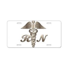 RN Caduceus Aluminum License Plate