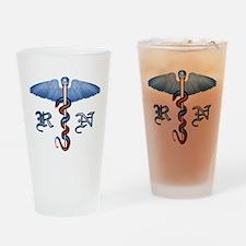 RN Caduceus Drinking Glass