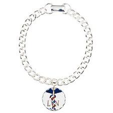 LVN Caduceus Charm Bracelet, One Charm