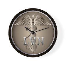 LVN Caduceus Wall Clock