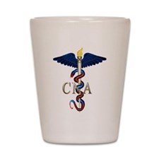 CNA Caduceus Shot Glass