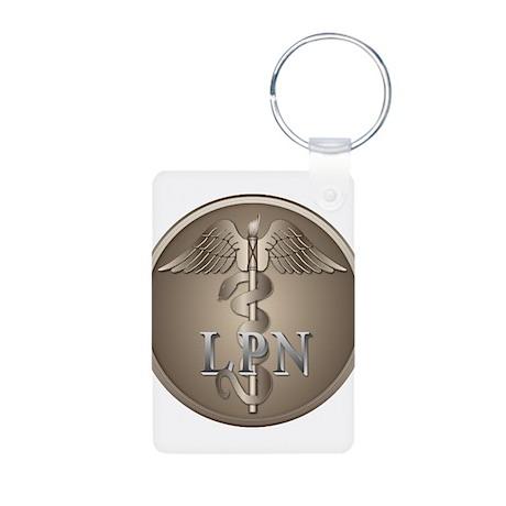 LPN Caduceus Aluminum Photo Keychain