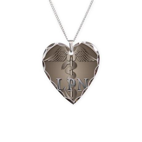 LPN Caduceus Necklace Heart Charm