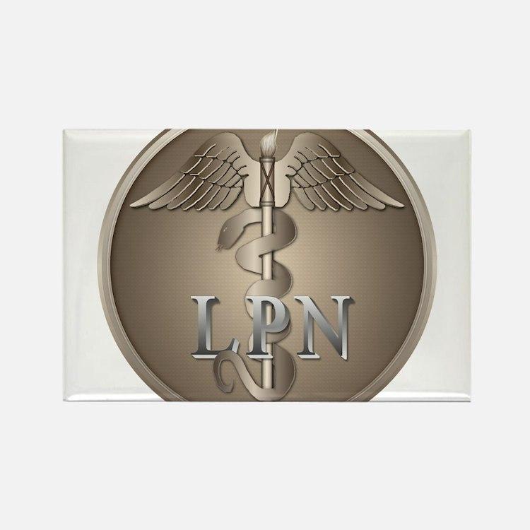 LPN Caduceus Rectangle Magnet (100 pack)
