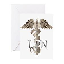 LPN Caduceus Greeting Cards (Pk of 20)