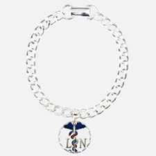 LPN Caduceus Charm Bracelet, One Charm